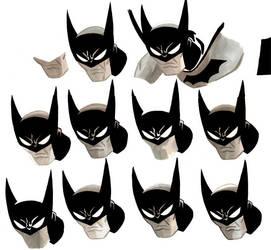 Batman Heads by aisu-kaminari