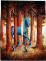 turqouse horse by Tulitikku