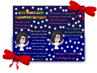 Lets make the world a kinder place Holiday Card by Imthe23DRAWER