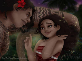 At Night / Moana by Teescha-Rinn
