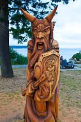 Viking carving by ackbad