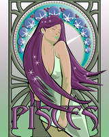 mucha pisces by D3AD7EE