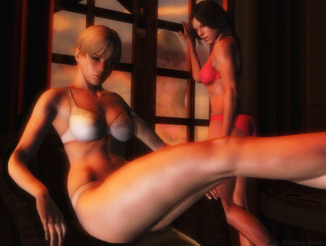 Resident evil wallpaper - Sherry and Helena by ethaclane
