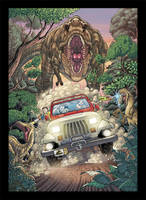 Jurassic Park Commission by TheInkPages