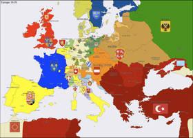 Europe 1618 by Hillfighter