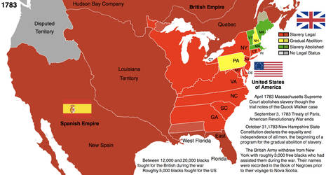 Treaty Of Paris Map 1783.Us History And Slavery 1783 By Hillfighter On Deviantart