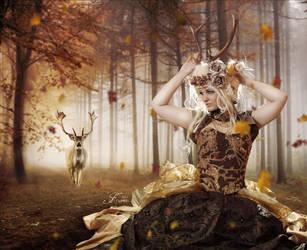 Autumn Lady by PriscillaSantanaArts