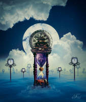 The Great Hourglass And The Paradise Of The Time by PriscillaSantanaArts