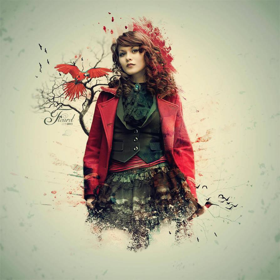 Red feeling by PriscillaSantanaArts