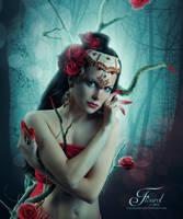 The Red Rose by PriscillaSantanaArts
