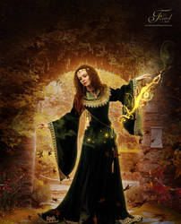 Autumn Sorceress by PriscillaSantanaArts