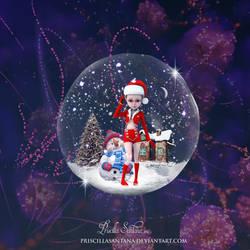 Christmas Bubble by PriscillaSantanaArts