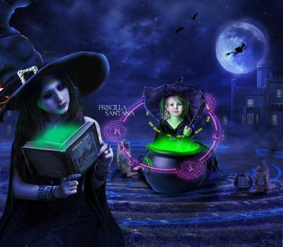 Halloween Night by PriscillaSantanaArts