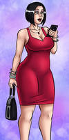 Kristy in a red dress by Amphurious