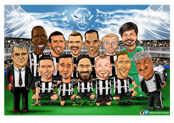 besiktas team portrait cartoon 15_16 by canerator