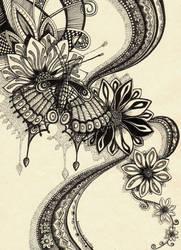 Psychedelic Butterfly 2 by Artwyrd