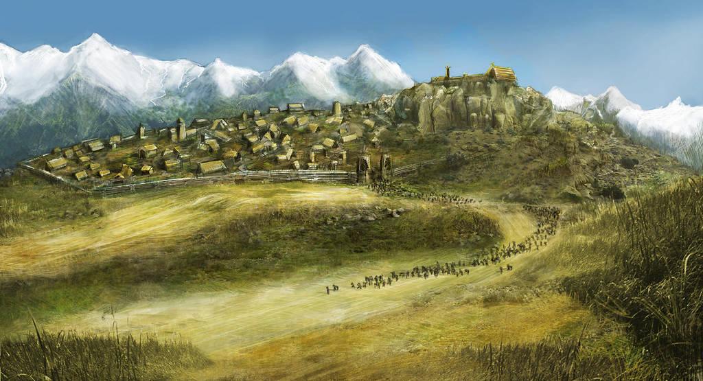 Edoras LOTR by Pi-dR