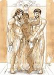 Comm_Elkemanias, Anja and Larios by Herio13