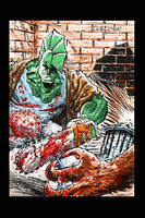 Savage Dragon Chainsaw Colors by ChrisMcJunkin