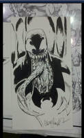 Venom Baltimore Ink Sketch by ChrisMcJunkin