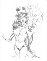 Zatanna Pencils by ChrisMcJunkin