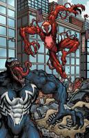 Venom vs Carnage by ChrisMcJunkin