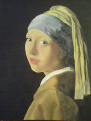 Girl WITHOUT a pearl earring by djokandzo