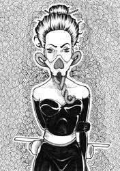 Heart-Masked Girl by djokandzo