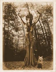 Forest Dryad by Sabattier