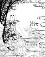 Miyabi - lineart by aruarian-dancer