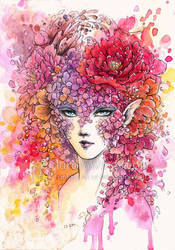 Floral Masquerade by aruarian-dancer
