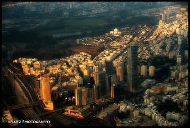 the skyline of Ramat gan by flutz