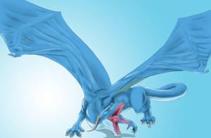 Blue Dragon by Super-Bastard