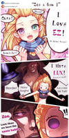 Zoe and Gem 1 by beanbeancurd