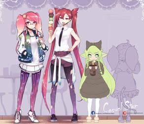 [LoL] WIP Casual wear LuLu by beanbeancurd