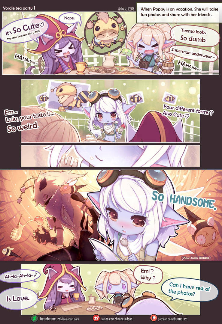 Yordle tea party 1 by beanbeancurd
