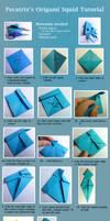Origami Squid Tutorial by pecatrix