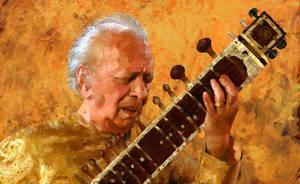 Ravi Shankar by Les-Allsopp