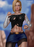 Android 18 by admdraws