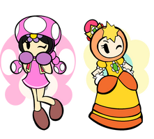 BG: Daisy and Toadette Cosplay by NikkiCrystal