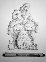 Daily Doodle #002 - Totoro by Ian-Krevonsky