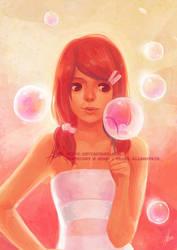 bursting  bubbles by mibou