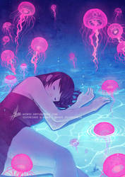 Like a Jellyfish Dream by mibou