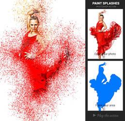 Paint Splashes Photoshop Action by sharonovKira