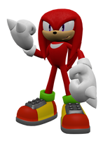 Knuckles the Echidna Render by Detexki99