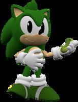 Ogorki the Hedgehog Render by Detexki99