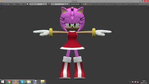 Amy Rose - new textures as in game by Detexki99