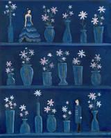 Love on a Blue Shelf by ltlartgirl