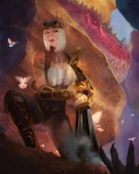 Outcast Odyssey Contest - Hunter (Steampunk) by jaggudada