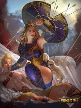 Smite - Athena - Golden Skin by jaggudada
